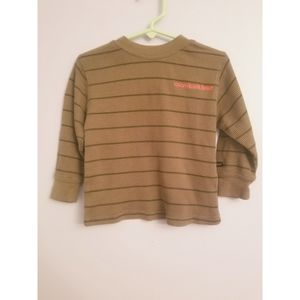 Calvin Klein olive green long sleeve shirt